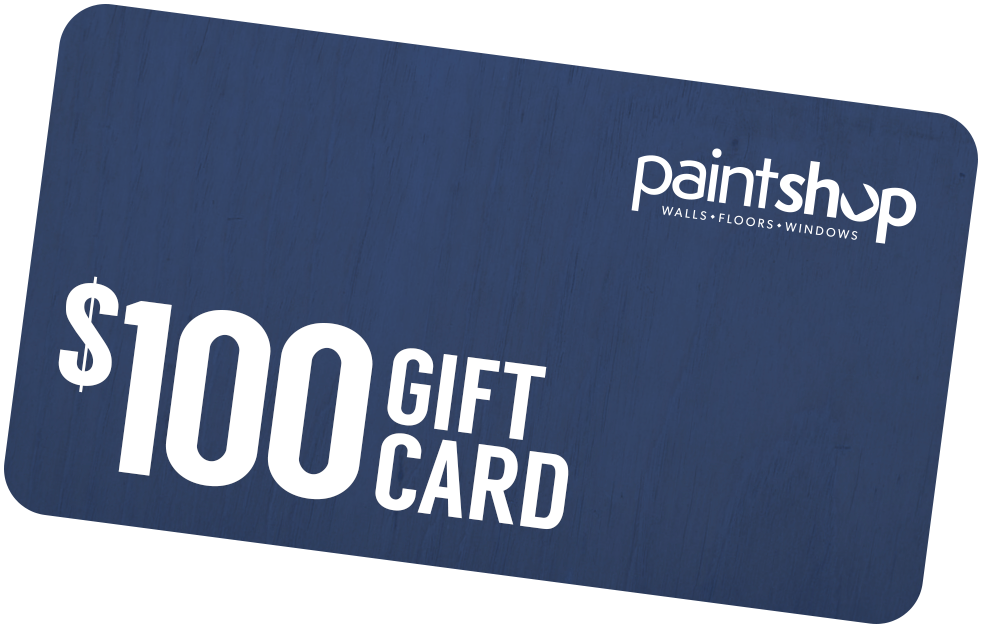 $100 gift card from The Paint Shop